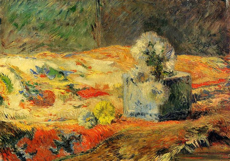 Flowers and carpet, 1881 - Paul Gauguin