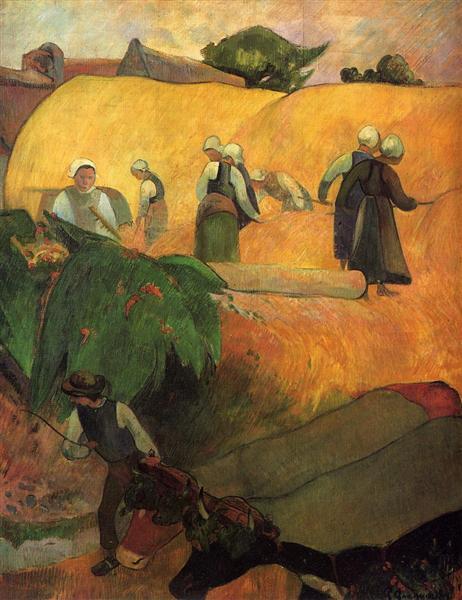 Haymaking, 1889 - Paul Gauguin