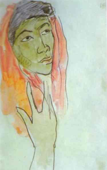 Head of a Woman, c.1892 - Paul Gauguin