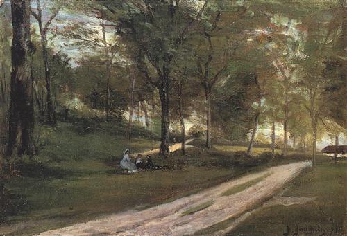 In the forest Saint Cloud II - Paul Gauguin