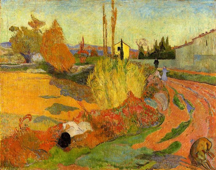 Landscape at Arles, 1888 - Paul Gauguin