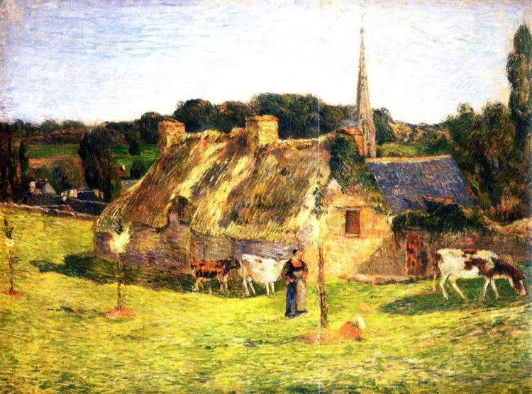 Lollichon's Field and the Church of Pont-Aven, 1886 - Paul Gauguin