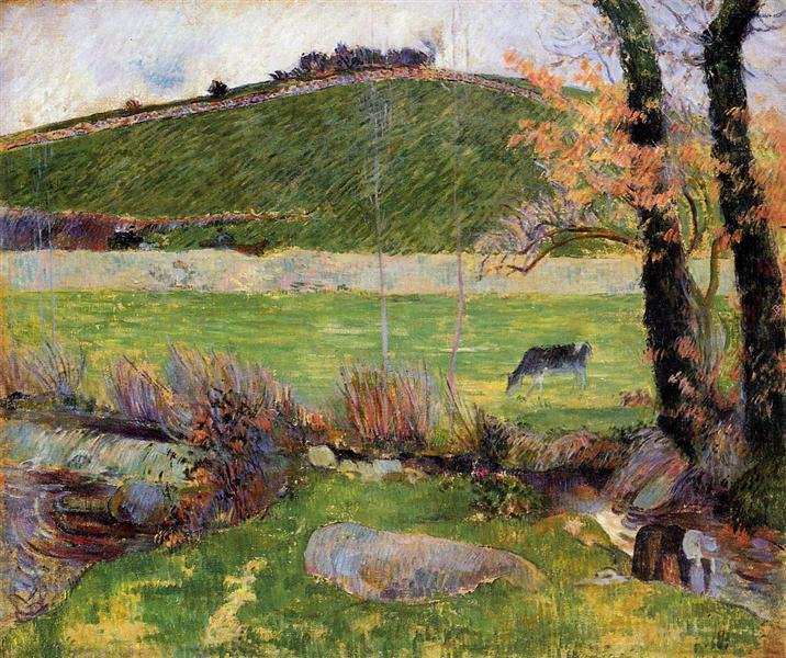 Meadow at the banks of Aven, 1888 - Paul Gauguin