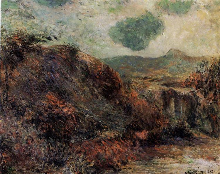 Mountain landscape, 1882 - Paul Gauguin