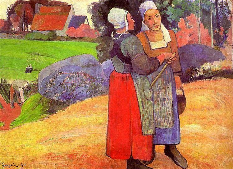 Paysannes bretones, 1894 - Paul Gauguin