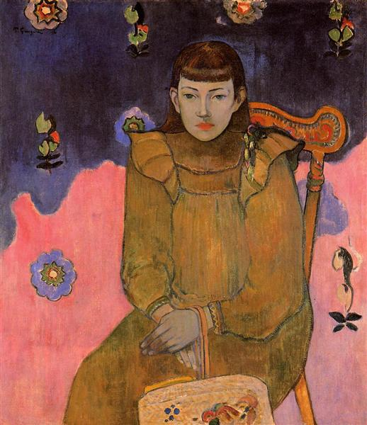 Portrait of a Young Woman, Vaite (Jeanne) Goupil, 1896 - Paul Gauguin