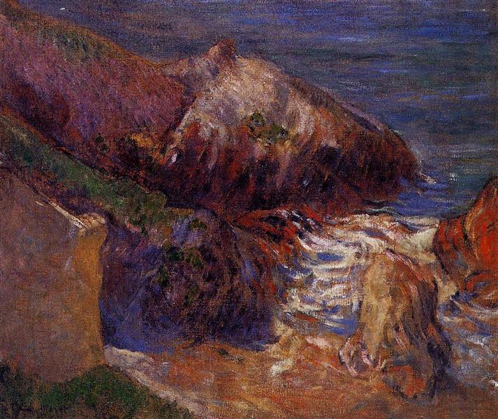 Rocks on the coast, 1889 - Paul Gauguin