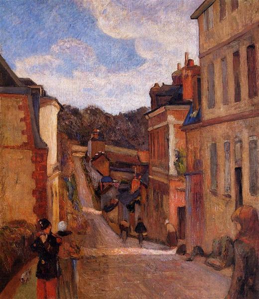 Rue Jouvenet, Rouen, 1884 - Paul Gauguin