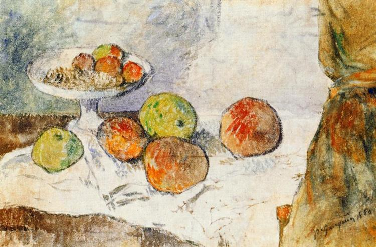 Still life with fruit plate, 1880 - Paul Gauguin