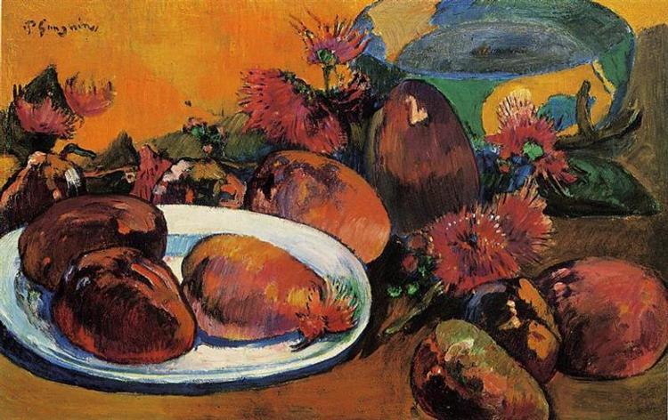 Still life with mangoes, c.1893 - Paul Gauguin