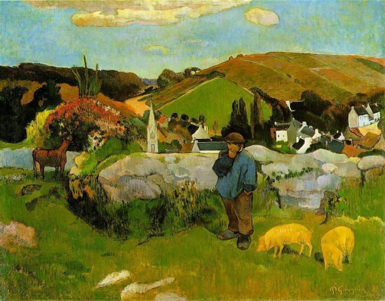 Swineherd, Brittany, 1888 - Paul Gauguin