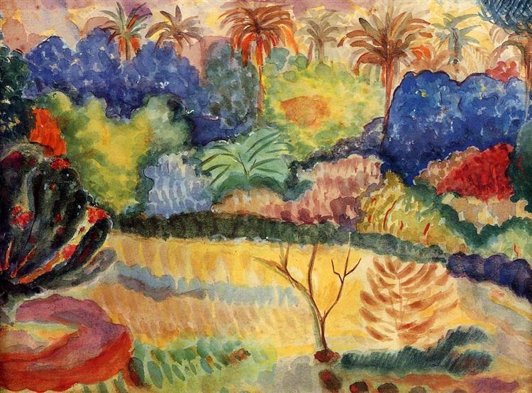 Tahitian landscape, 1897 - Paul Gauguin