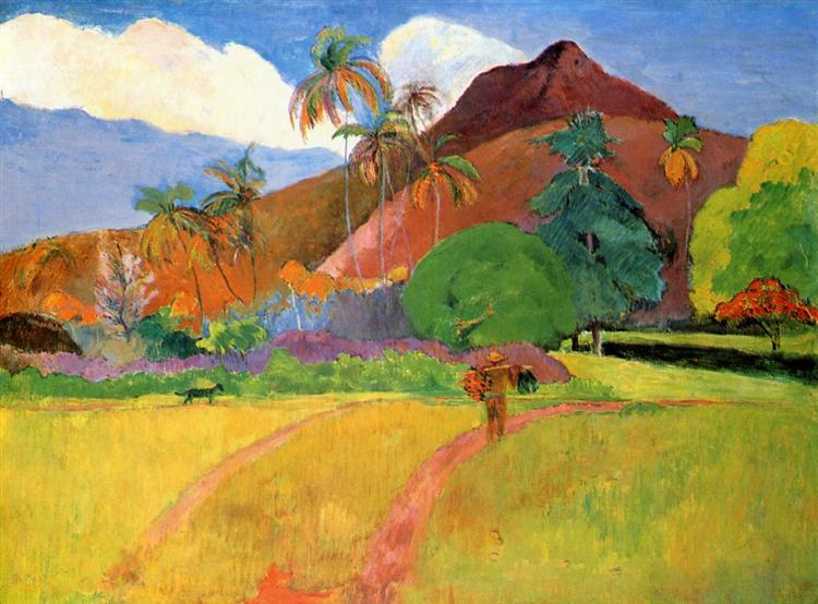 Tahitian mountains, 1893 - Paul Gauguin