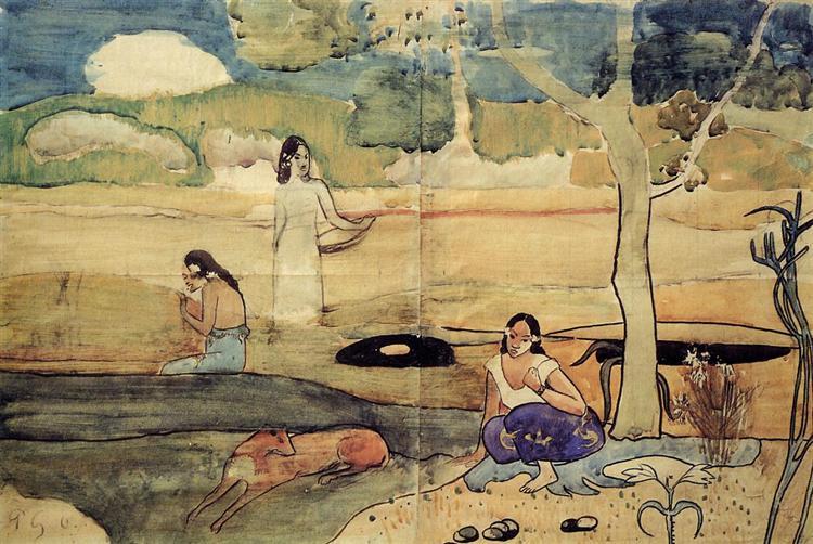 Tahitian Scene, c.1892 - Paul Gauguin