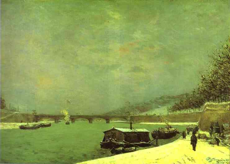 The Seine at the Pont d'Iena, 1875 - Paul Gauguin