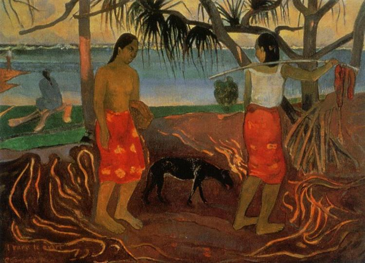 Under the Pandanus, 1891 - Paul Gauguin