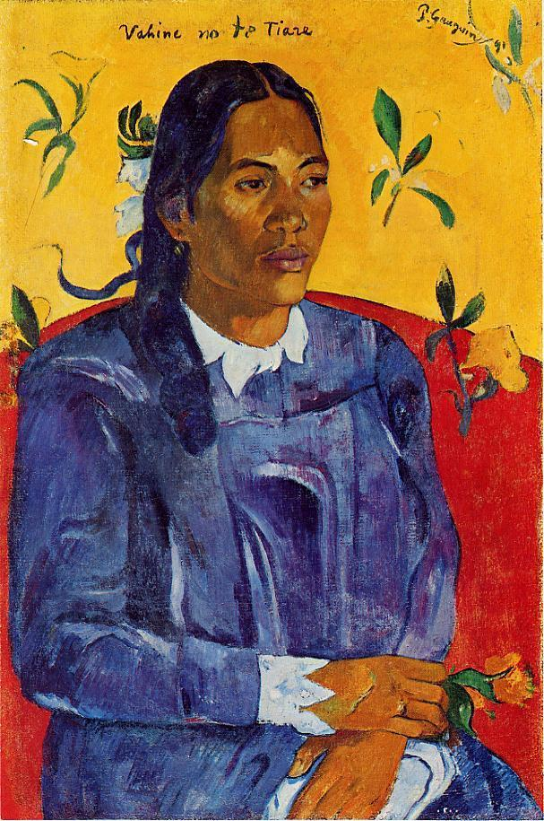 Woman With A Flower 114