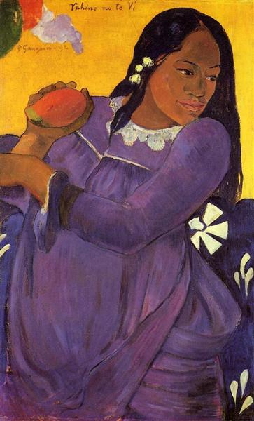 Woman with a Mango, 1892 - Paul Gauguin