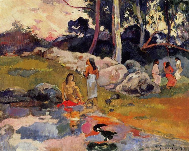 Women at the banks of river, 1892 - Paul Gauguin