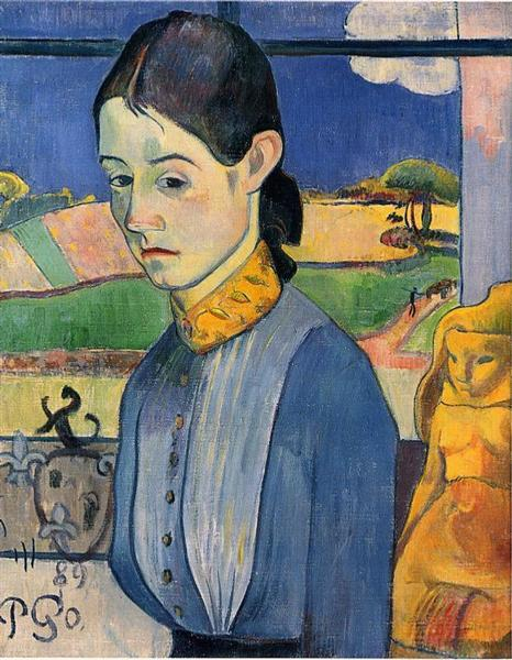Image result for 'Young Breton Woman', (1889, Private Collection) Gauguin