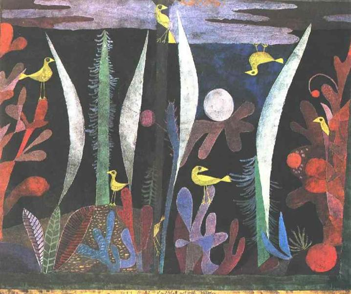 Landscape with Yellow Birds - Klee Paul