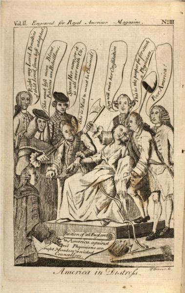 America in Distress, 1775 - Paul Revere