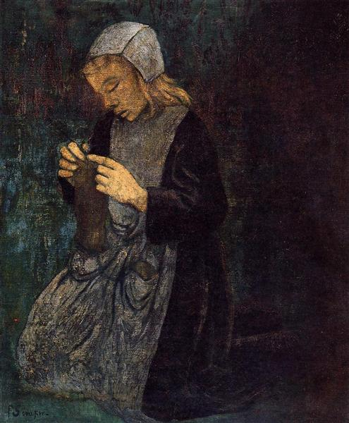 Young Breton (The Little Knitter), c.1896 - Paul Serusier