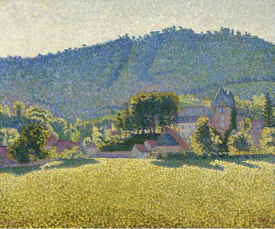 Comblat and the valley of the Cere, 1887 - Paul Signac