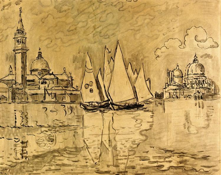 Study for Venice, Morning, c.1908 - Paul Signac