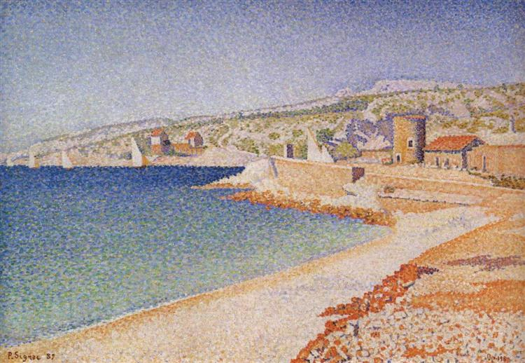 The Jetty at Cassis, Opus 198, 1889 - Paul Signac