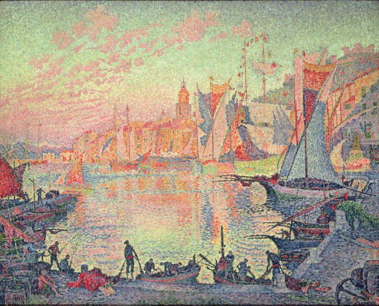 The Port of Saint Tropez - Paul Signac