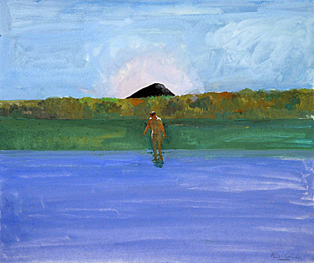 Lake, Nude, Black Hill, 1968 - Paul Wonner