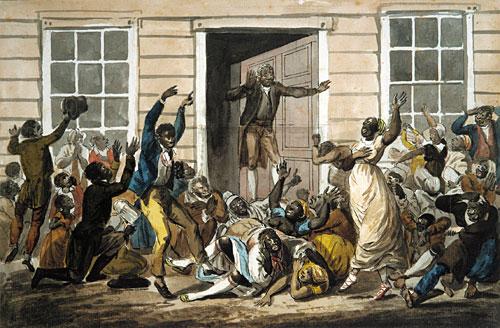 Black Methodists Holding a Prayer Meeting, c.1812 - Pavel Svinyin