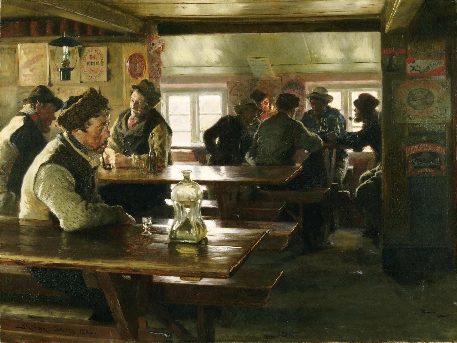 Interior Of A Tavern Peder Severin Kroyer Encyclopedia Of Visual Arts