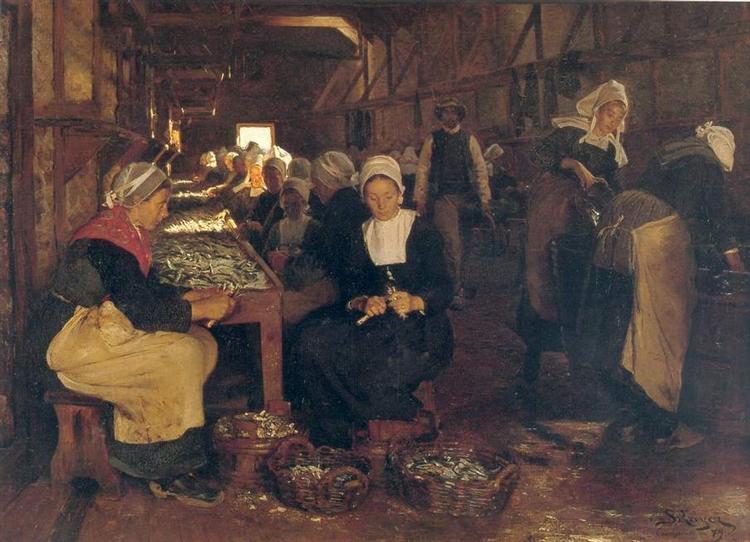 Women of Concarneau, 1879 - Peder Severin Kroyer
