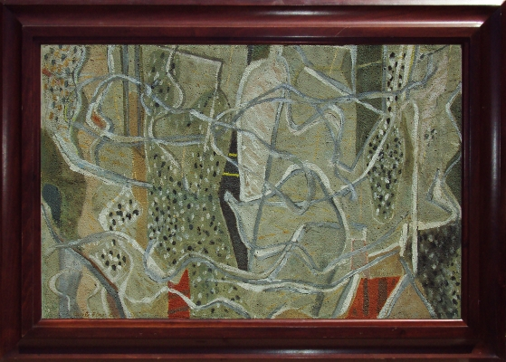 Untitled (Brown, Red, Green, White), 1950 - Perle Fine