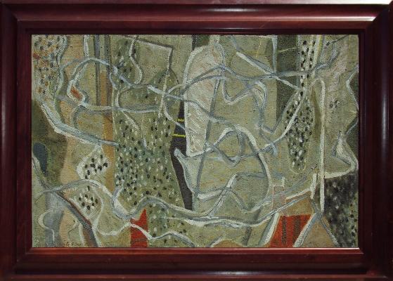 Untitled (Brown, Red, Green, White), 1950 - Перл Файн