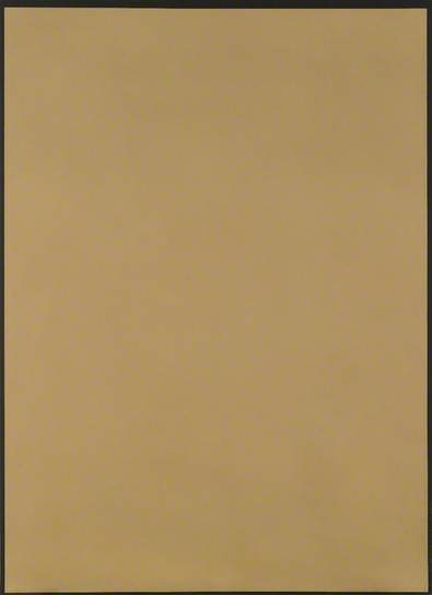 Dark Ochre with Black Border, 1973 - Peter Joseph