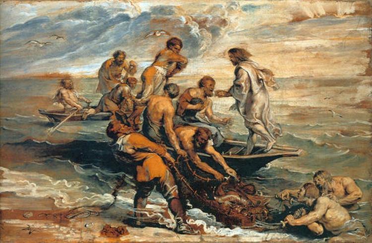 Miraculous Fishing, c.1618 - c.1619 - Peter Paul Rubens