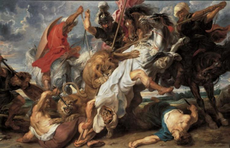 The Lion Hunt, 1621 - Peter Paul Rubens