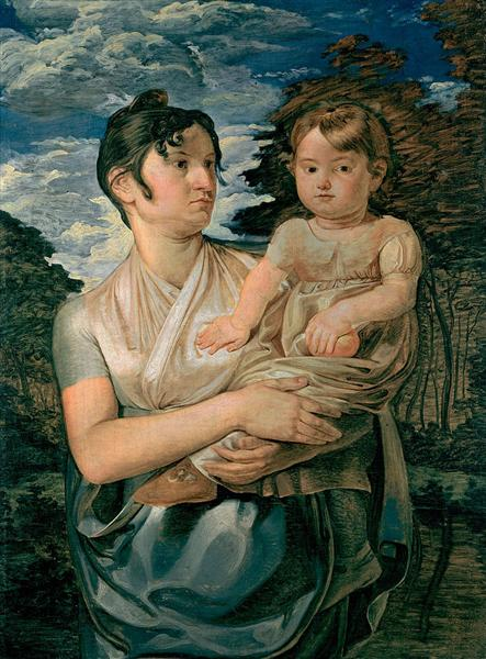Pauline Runge with her two-year-old-son, 1807 - Philipp Otto Runge