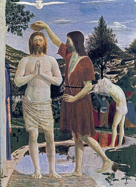 Baptism of Christ (detail), 1450 - Piero della Francesca