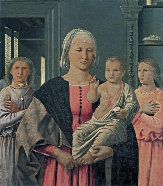 Madonna of Senigallia with Child and Two Angels, c.1470 - Piero della Francesca