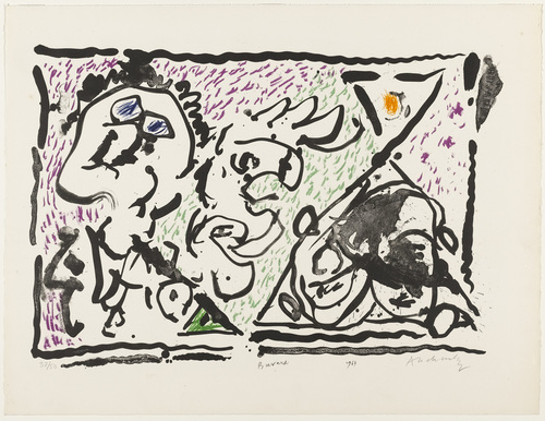Blotter (Buvard), 1964 - Pierre Alechinsky