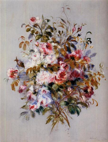 A Bouquet of Roses, 1879 - Pierre-Auguste Renoir