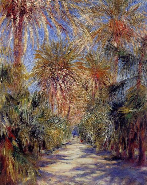 Algiers, the Garden of Essai, 1881 - Pierre-Auguste Renoir
