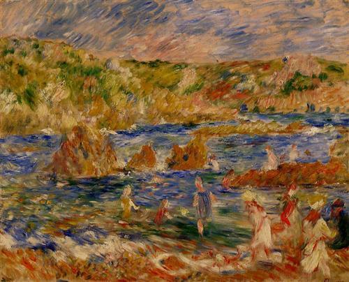 Children on the Beach at Guernsey - Pierre-Auguste Renoir