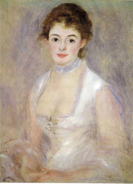 Madame Henriot, c.1876 - Pierre-Auguste Renoir