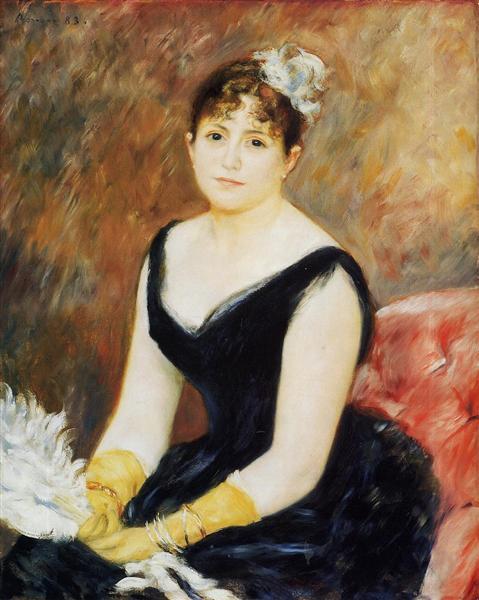Madame Leon Clapisson (Marie Henriette Valentine Billet), 1883 - Pierre-Auguste Renoir
