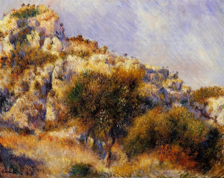 Rocks at l'Estaque, 1882 - Pierre-Auguste Renoir